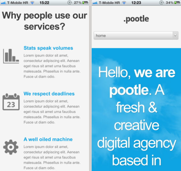 Pootle on iPhone